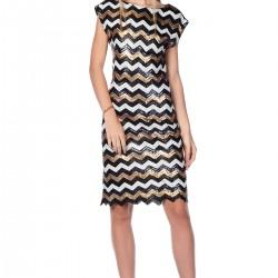 Zigzag Desenli Roman Elbise Modelleri