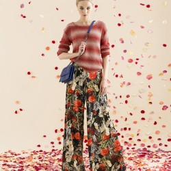 Çiçekli Bol Kesim Pantolon Kombinleri