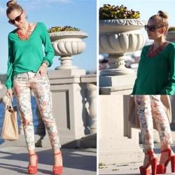 Açık Renk 2015 Desenli Pantolon Modelleri