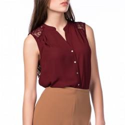 Gömlek Yazlık Bordo Renk Kombinler