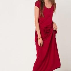 Günlük Elbise Yazlık Bordo Renk Kombinler