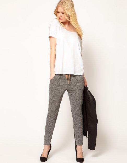 Gri Sade 2015 Penye Pantolon Modelleri