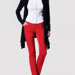 Kırmızı Kalem Pantolon Kombinleri