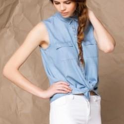 Kolsuz Buz Mavisi 2015 Yazlık Gömlek Modelleri