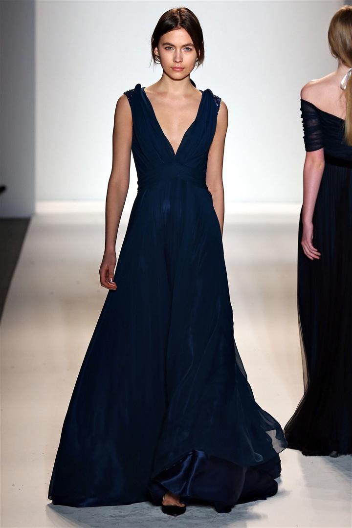 Petrol Mavisi V Yaka Elbise Modelleri
