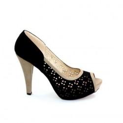 Siyah Lazer Kesim Ayakkabı Modelleri