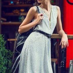 V Yaka Elbise 2015 Yazlık Kombinler