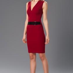 V Yaka Elbise Yazlık Bordo Renk Kombinler