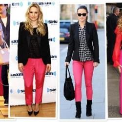 Yeni Sezon Pembe Neon Pantolonlar