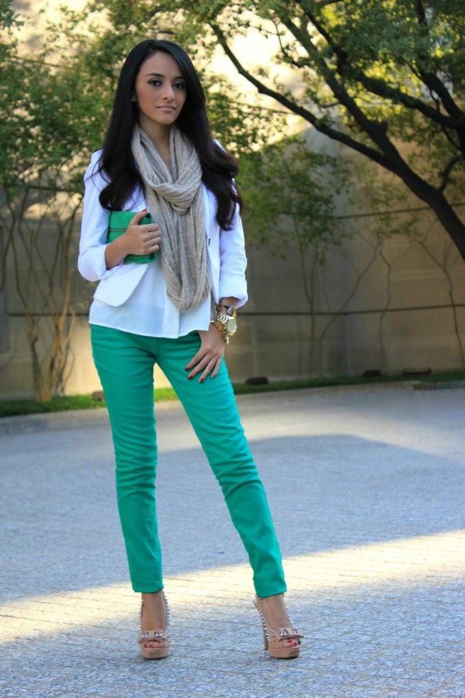 Yeni Sezon Yeşil Pantolon Kombinleri