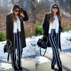 Çizgili Pantolon Modelleri 2015
