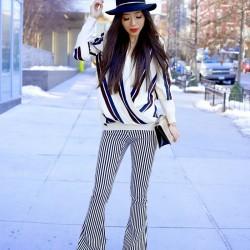 Çizgili Pantolon Modelleri ve Kombinleri