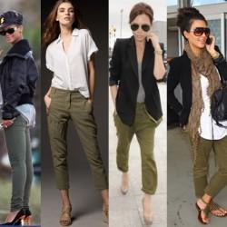 Asker Yeşili Pantolon Modelleri 2015