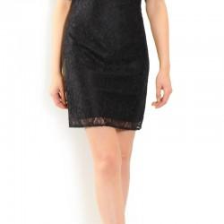 Dantel İşlemeli Ekol Elbise Modeli