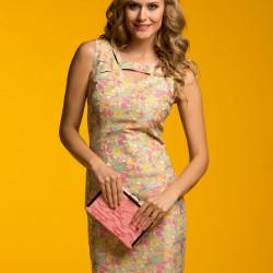Ekol Çiçek Desenli Elbise Modeli
