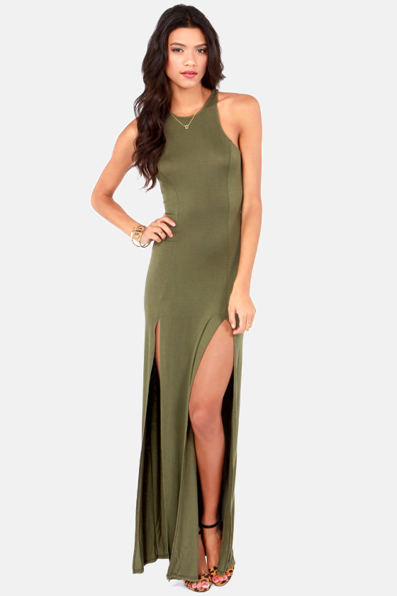 e154411e4ae71 Yeni Sezon Asker Yeşili Elbise Modelleri | Elbise