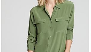 En Güzel Asker Yeşili Gömlek Modelleri