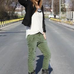 En Tarz Asker Yeşili Pantolon Modelleri