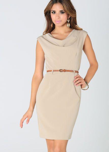 Kemer Detaylı Günlük Elbise Modelleri