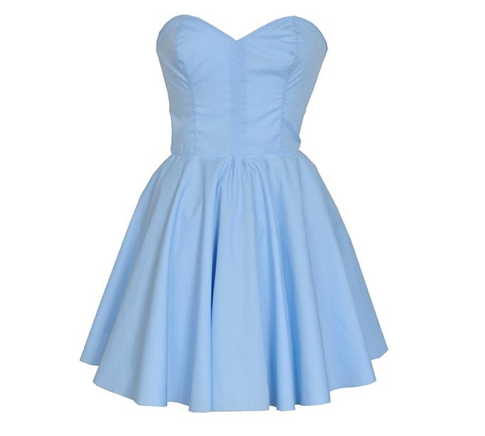Pastel mavi elbise modeli
