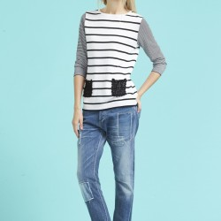Yeni trend yamalı kot pantolon modelleri