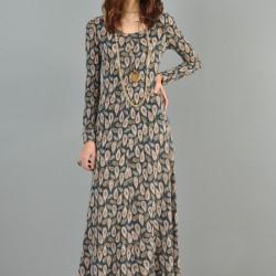 Çok Güzel Desenli Günlük Uzun Elbise Modelleri