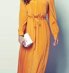 Önden Düğmeli Uzun Elbise Modelleri