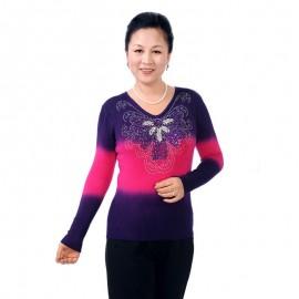 İşlemeli orta yaş kışlık kazak modelleri