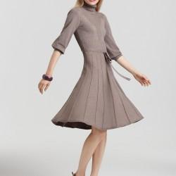 En Güzel Balıkçı Yaka Elbise Modelleri