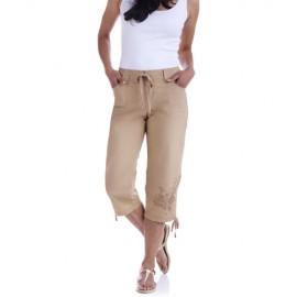 En Tarz İşlemeli Kapri Pantolon Modelleri