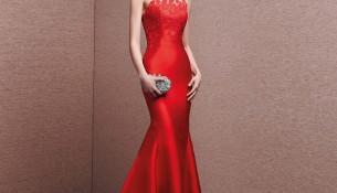 En Yeni Kırmızı Abiye Modeli