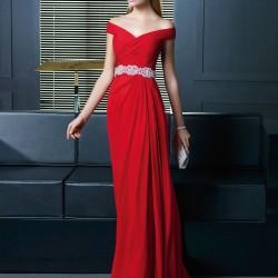 En Zarif Kırmızı Abiye Modelleri 2016