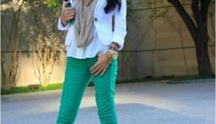 En güzel yeşil pantolon kombinleri