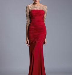Kırmızı Abiye Modelleri 2016