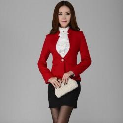 Kırmızı Renkli Bayan Spor Ceket Kombinleri