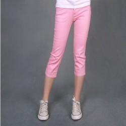 Pembe Renkli Spor Kapri Pantolon Modelleri