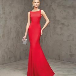 Sade Balık Etek Kırmızı Abiye Modeli 2016