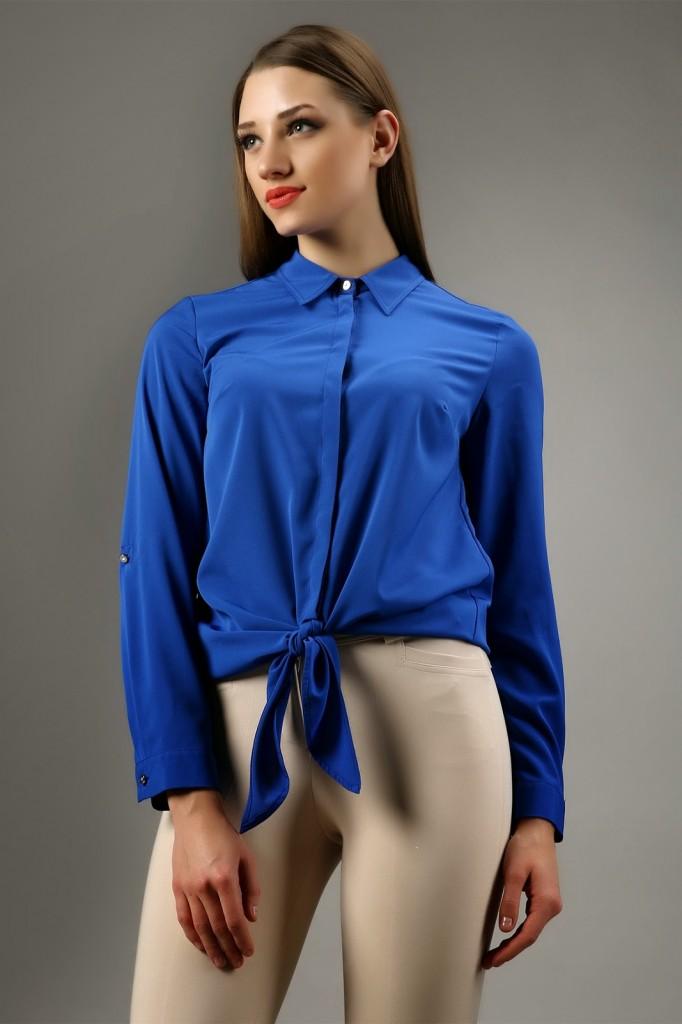 Saks Mavisi Gömlek Modelleri