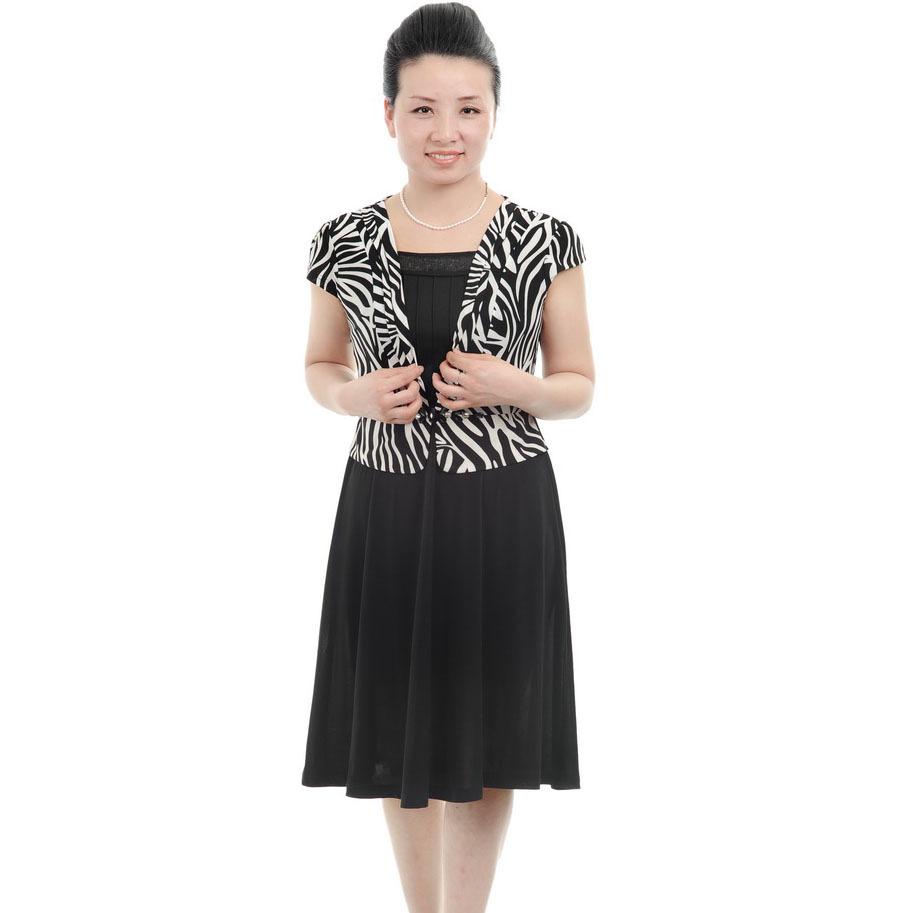 Siyah renkli çok zarif orta yaş elbise modelleri