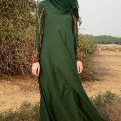 Yeşil Renkli Türbanlı Abiye Modelleri