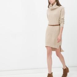 Balıkçı Yaka Koton Mini Elbise Modeli