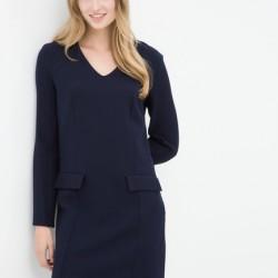 Cep Detaylı Koton Lacivert Elbise Modeli