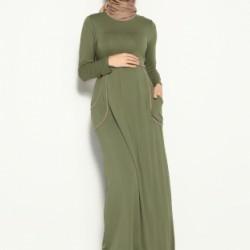 En Güzel Kapalı Hamile Elbise Modelleri