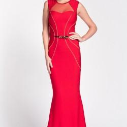 Kırmızı Balık Etek Gece Elbise Modelleri