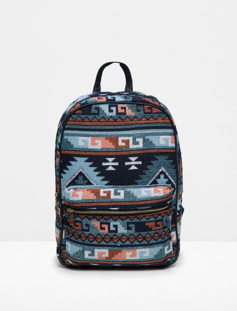 Okula Dönüş Modası, Etnik Desenli Koton Çanta