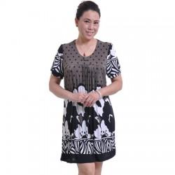Orta yaş bayan midi elbise modelleri
