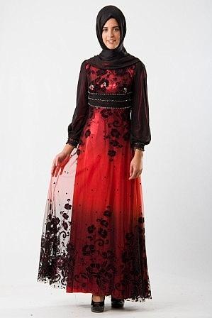 Yeni Sezon Tesettür Gece Elbise Modelleri