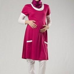 Yeni Sezon Tesettür Hamile Elbise Modelleri