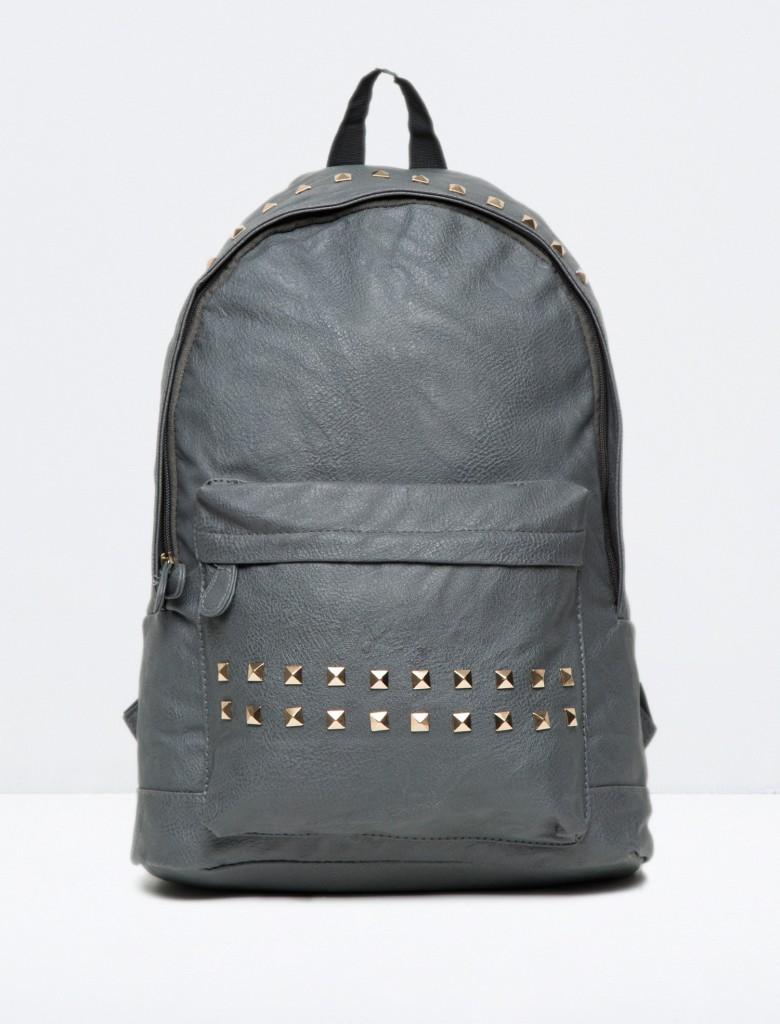 Zımba Detaylı Koton Sırt Çanta Modeli