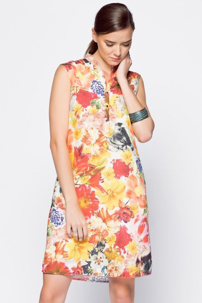 adL Çiçek Desenli Elbise Modeli